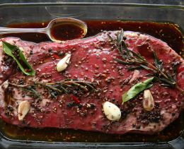A Delicious Recipe for Red Wine Flank Steak