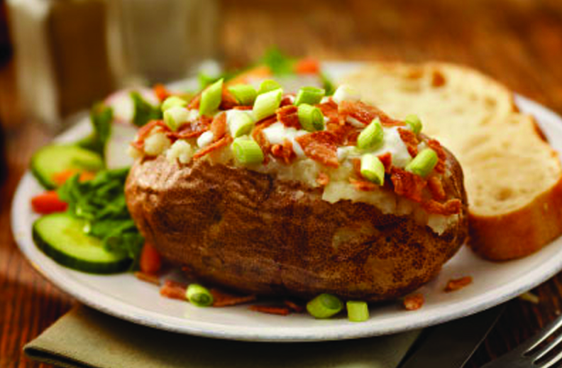 Over-Stuffed Twice Baked Potatoes With Smoked Cheddar ...